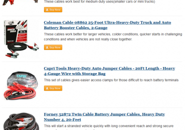 high quality jumper cables